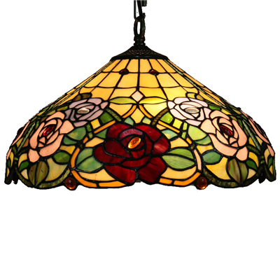 PL160020 16 inch Flower Tiffany Style Pendant Lamp stained glass hanging lighting