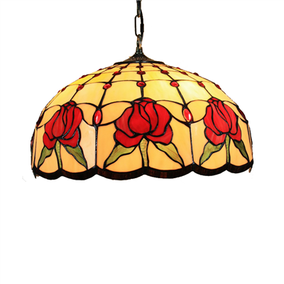 PL160022 16 inch Flower Tiffany Style Pendant Lamp stained glass hanging lighting