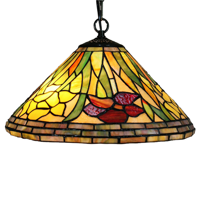 PL160024 16 inch Flower Tiffany Style Pendant Lamp stained glass hanging lighting