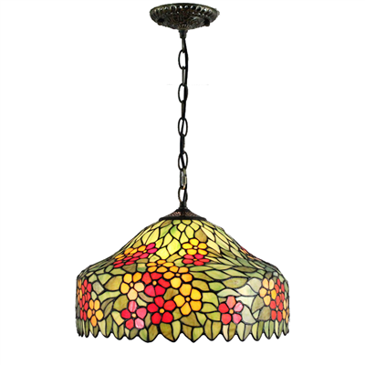 PL160028 16 inch classica Tiffany Style Pendant Lamp stained glass hanging lighting
