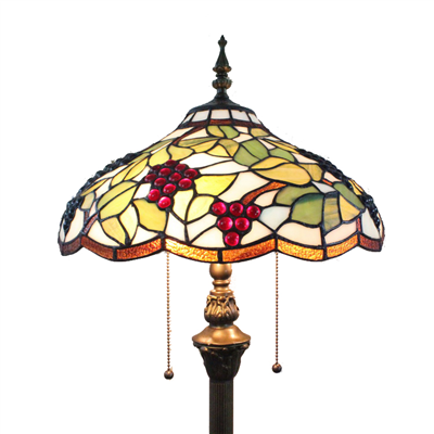 FL160026 16 inch Two lights Tiffany floor lamp stained glass floor lamp from China
