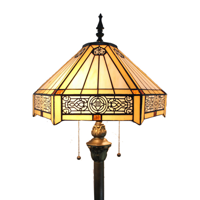 FL160054 16 inch Two lights Tiffany floor lamp stained glass floor lamp from China