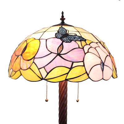 FL160064 16 inch Two lights Tiffany floor lamp stained glass floor lamp from China