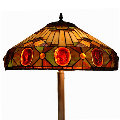 FL200117 20 inch Three lights Tiffany floor lamp stained glass floor lamp from China