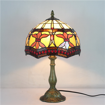 TL100007 10 inch resin base tiffany table lamp from China Jiufa