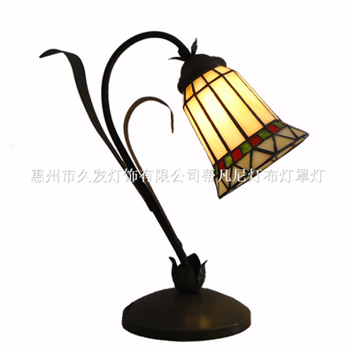 TLC00100-Tiffany Style Curved Desk Table Lamp Art Nouveau style