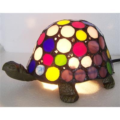 TLC00020-Multi color turtle tiffany table lamp