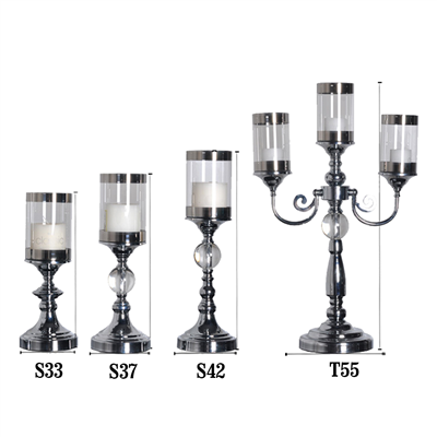 European Table Candle Holder Romantic Atmosphere Construction Candlestick Novel Hardware Desktop Dec