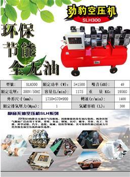 10P台湾劲豹SLH300静音无油空压机