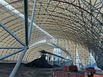 充气膜_张拉膜_膜结构环保煤棚顺泽膜结构