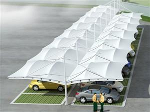 张拉膜结构车棚自行车棚遮阳棚-源卡多膜结构