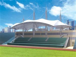 膜结构体育场看台-源卡多膜结构工程公司