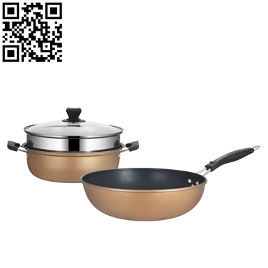 黃金家庭組合套裝鍋(2-piece Stainless Steel Cookware Set)