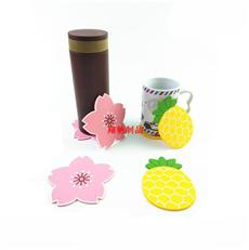 水果杯垫 PVC软胶杯垫 滴胶餐垫 可开模定制