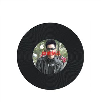 CD杯垫 PVC软胶唱片杯垫 可定制印刷LOGO杯垫