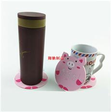 小猪杯垫 PVC软胶卡通杯垫 隔热餐垫 可开模定制