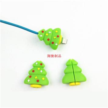 手机数据线套 PVC软胶充电线保护套 圣诞礼品 可开模定制