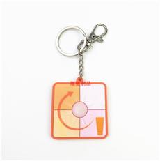 PVC软胶钥匙扣 UV感光变色钥匙扣 化妆品礼品锁匙链 可开模定制