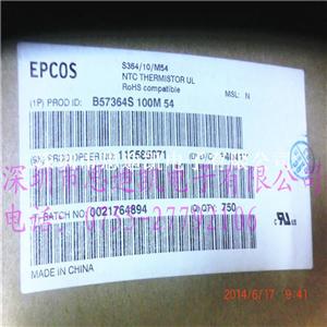 原装正品 EPCOS(爱普科斯)/TDK浪涌电流限制器NTC B57364S0100M000