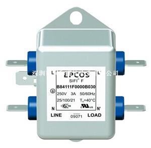 原装正品 EPCOS/爱普科斯 电源线路EMC滤波器B84111F0000B030
