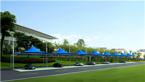膜结构车棚工程厂家-源卡多膜结构公司