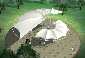 源卡多膜结构公司专业承接景观膜结构
