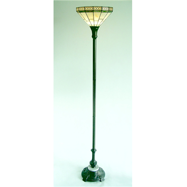 FL110001 11 inch Tiffany floor lamp stained glass floor lamp from China
