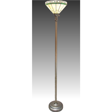 FL120001 12 inch Tiffany Lampshade upwards  Floor  Lamp Stained Glass Floor Lightings