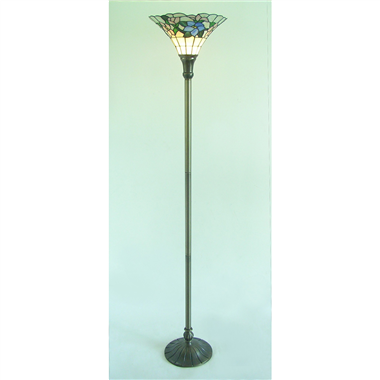 FL140007 14 inch Tiffany Lampshade upwards Floor Lamp Stained Glass Floor Lightings