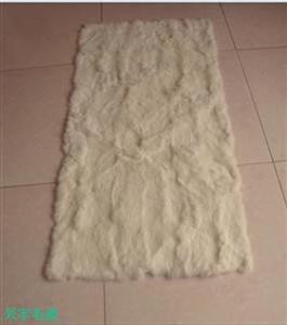 家兔皮材料白肷褥子