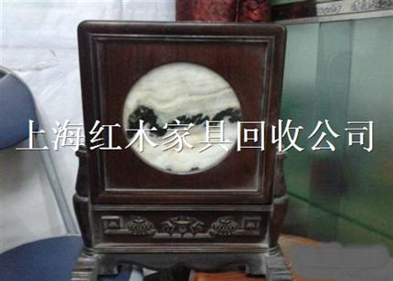 回收红木镜框上海老柚木沙发回收苏州无锡南通红木底座回收