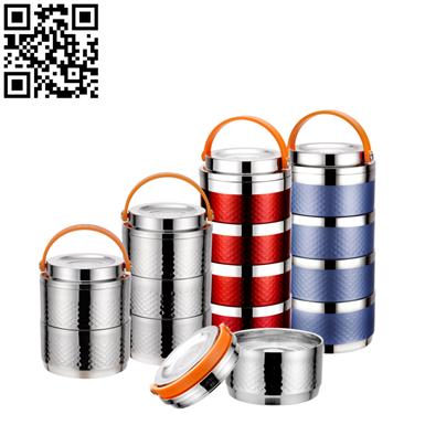 不锈钢组合食格(Stainless steel Insulation Lunch boxes)ZD-SL12