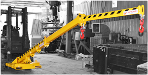 Forklift rotary boom