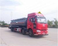 解放前四后八腐蚀性物品罐式运输车J6危险品运输车18方化工液体运输车