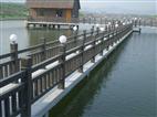 仿木桥梁钢制灯光护栏