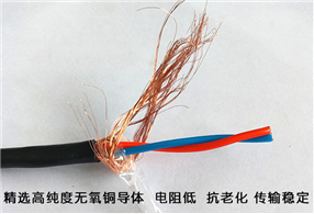 NH-RVSP-2×2.5,耐火阻燃屏蔽双绞线