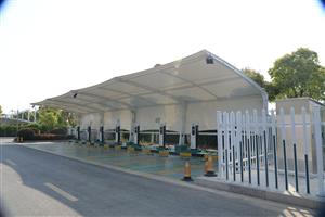加油站棚_充电桩棚_收费站_膜结构专业制造商