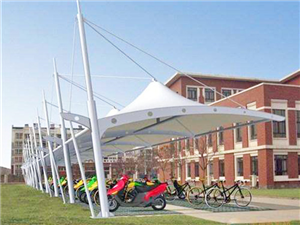 小区单位膜结构自行车棚专业制造商_源卡多膜结构公司