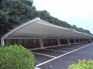 电动车充电桩雨棚-膜结构充电桩车棚-汽车遮阳棚