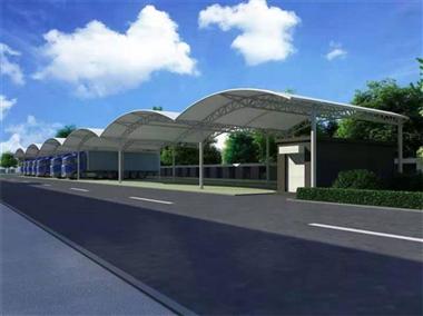 车棚_汽车棚_自行车棚_膜结构车棚_源卡多公司