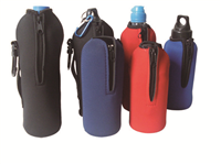 CBH027DD Water bottle cooler with lanyards