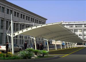 节能环保型膜结构停车棚
