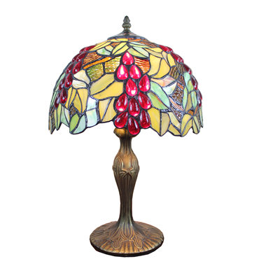 TL120203 Tiffany Table Lamp Grape Fruit Pattern Home Decoration