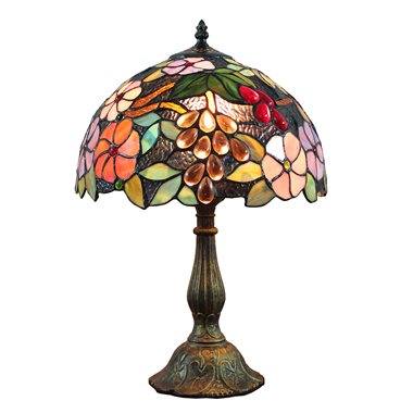 TL120205 Tiffany Table Lamp Flowers and Fruits Home Decoration