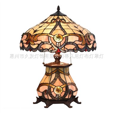 CL160005 Tiffany Style Cluster Table Lamp Victorian Desk Lamp Stained Glass Lamp