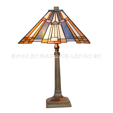 TL140012 Mission table lamp tiffany style stained glass shade
