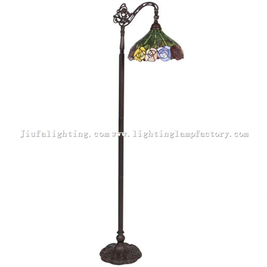 FL130020 Tiffany Style Rose Reading Arched  Floor Lamp Lighting