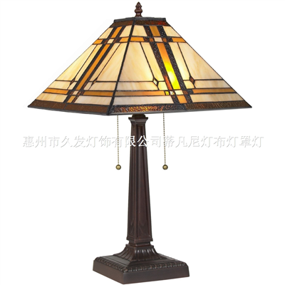 TL140010 Tiffany Style Table Reading Lamp Mission Design Table Desk Lighting