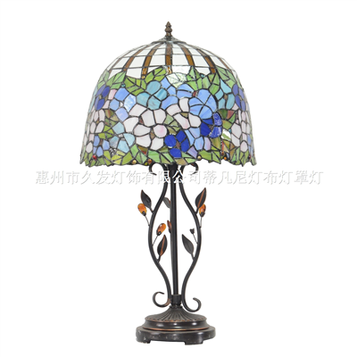 TL160071 Tiffany style flower table lamp metal lamp base