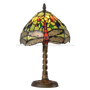 TL080002 8 inch Tiffany style green dragonfly lamp zinc alloy dragonfly lamp base